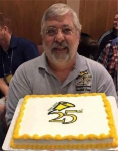 kipp with 25th ann cake